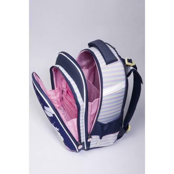 Budmil Chase unikornis ergonómikus hátizsák - kék-pink