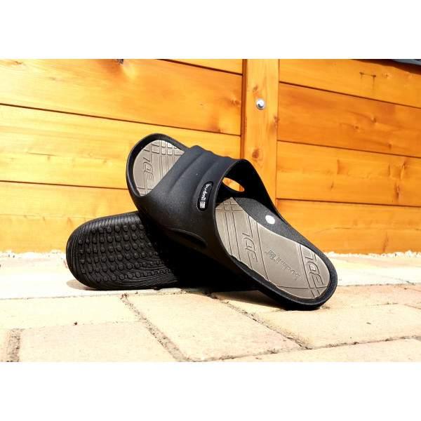 Budmil férfi standpapucs - Fekete-Keki