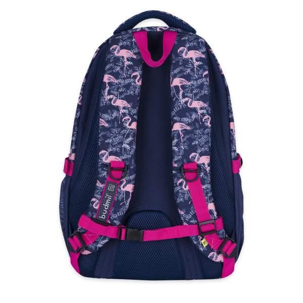 Budmil Lynsey flamingós hátizsák - sötétkék-pink