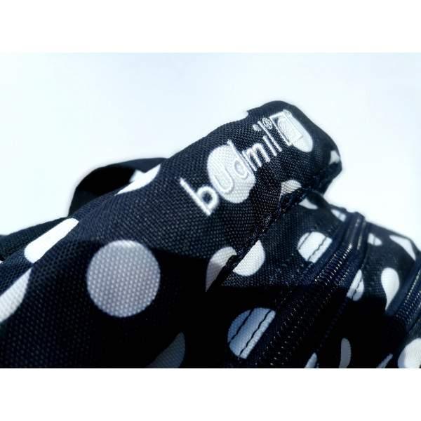 Budmil Lynsey pöttyös hátizsák - kék-fehér