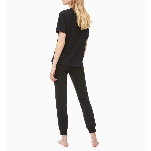 Calvin Klein női környakú póló - fekete