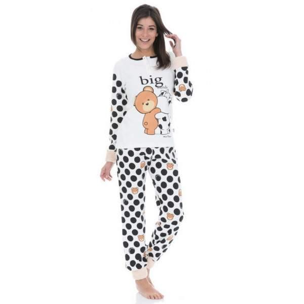 da5aadec0d Crazy Farm 15376 női pöttyös pamut pizsama - Dressa.hu