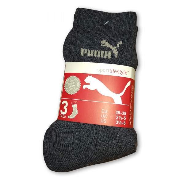 Puma Short Crew sportzokni - 3 pár