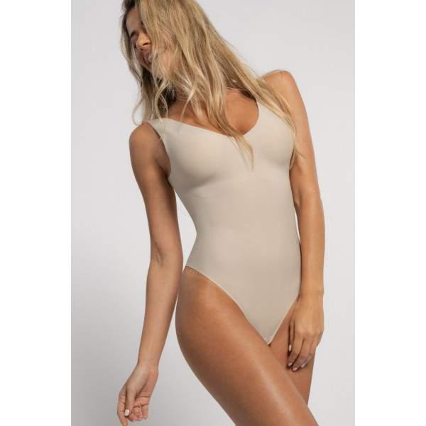 Dorina AirLite varrás nélküli body - bézs
