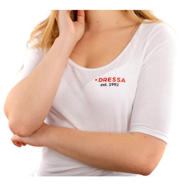 Dressa Collection 3/4-es ujjú női póló - fehér