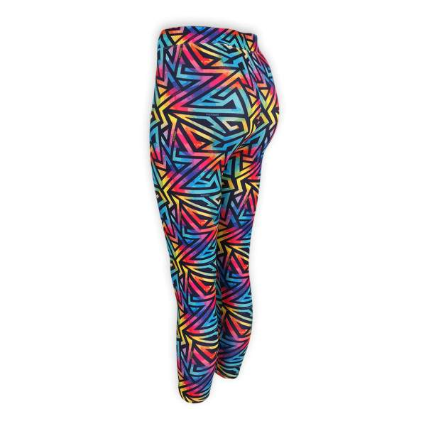 Dressa Active mintás enyhén magasított derekú fitness leggings - szivárvány