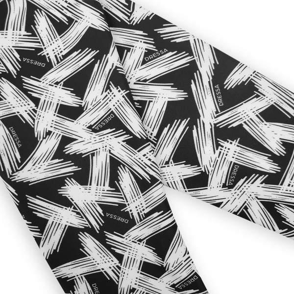 Dressa Active mintás enyhén magasított derekú fitness leggings - fekete