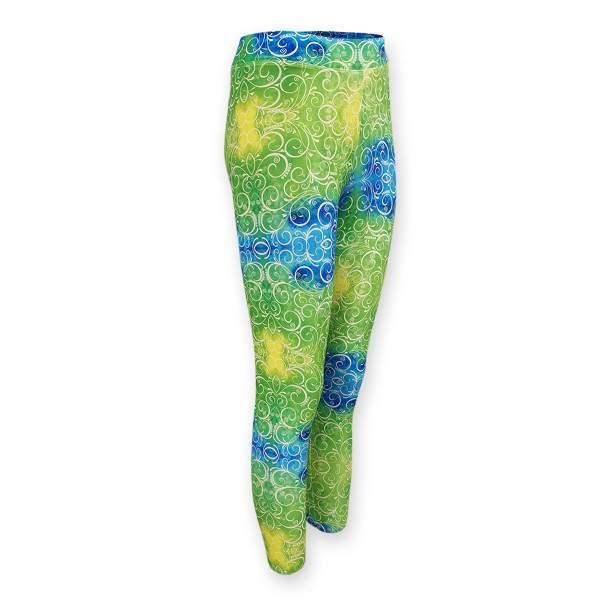 Dressa Active mintás enyhén magasított derekú fitness leggings - zöld