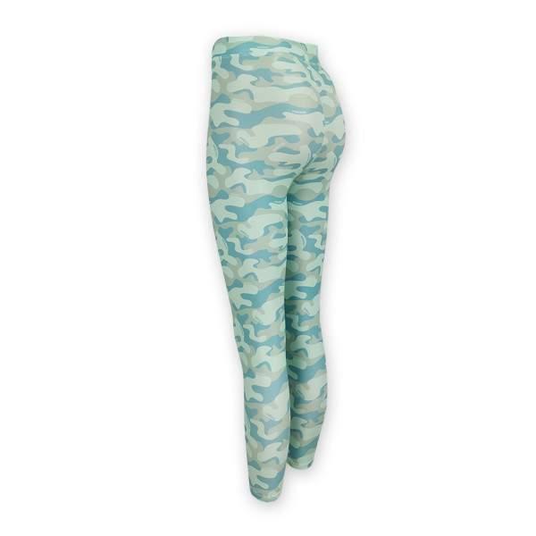 Dressa Active terepmintás enyhén magasított derekú fitness leggings - zöld