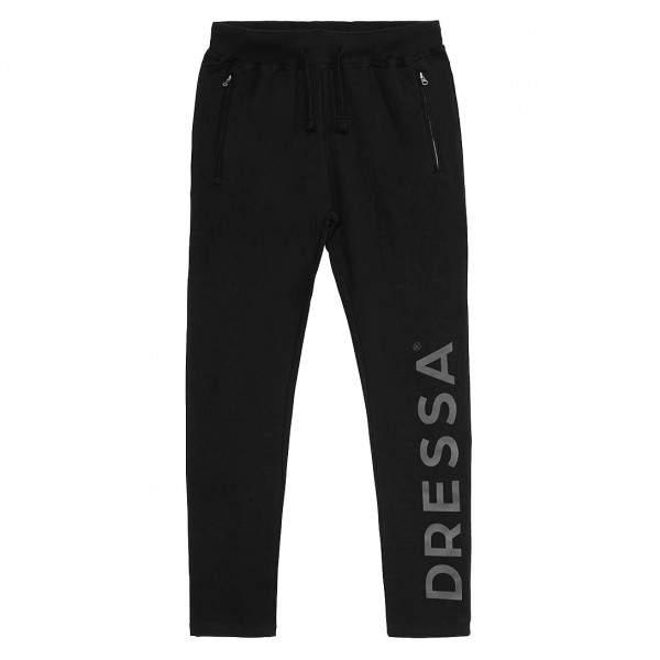 Dressa női cipzáros pamut melegítő nadrág - fekete