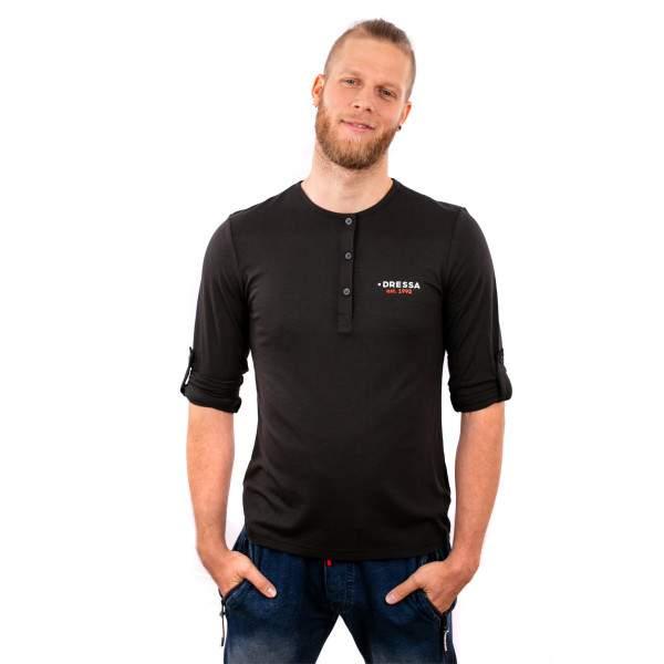 Dressa Collection férfi hosszú ujjú póló - fekete
