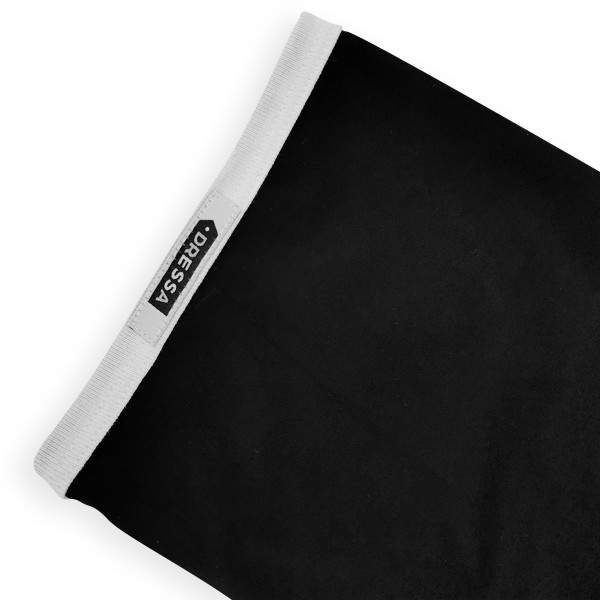 Dressa DRS College gombos V-nyakú ringer férfi póló - fekete