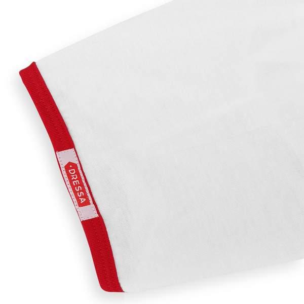 Dressa DRS College gombos V-nyakú ringer női póló - fehér-piros