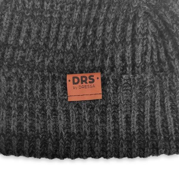 Dressa DRS Beanie kötött téli sapka - fekete-szürke