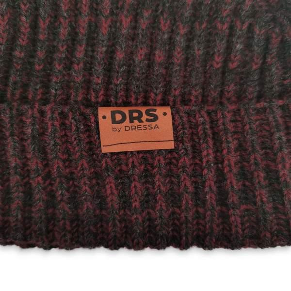Dressa DRS Beanie kötött téli sapka - piros-fekete