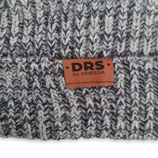 Dressa DRS Beanie kötött téli sapka - szürke-sötétkék