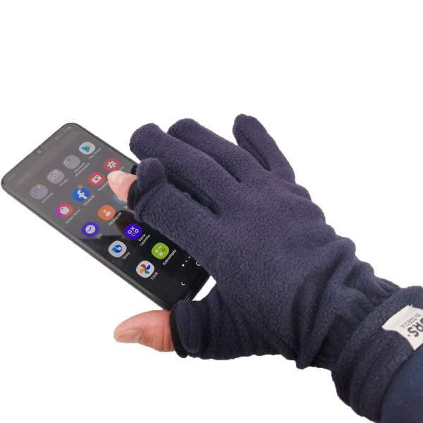 Dressa DRS lehajtható ujjú kesztyű okostelefonhoz - sötétkék