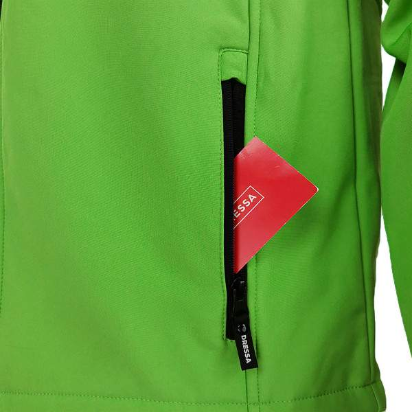 Dressa DRS nagyméretű softshell átmeneti férfi dzseki polár béléssel - zöld