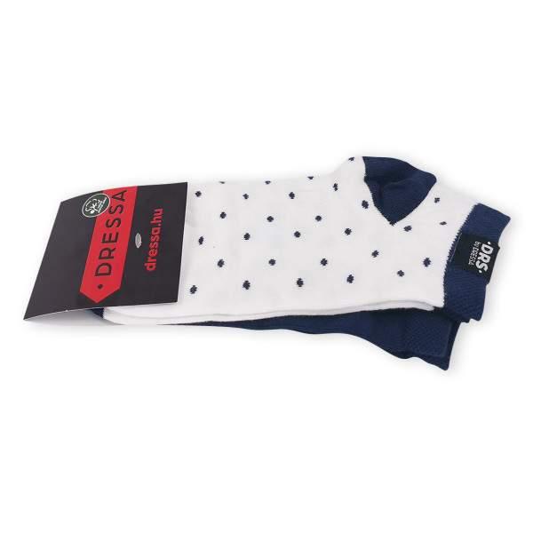 Dressa DRS pöttyös rövid szárú pamut zokni csomag - 2 pár
