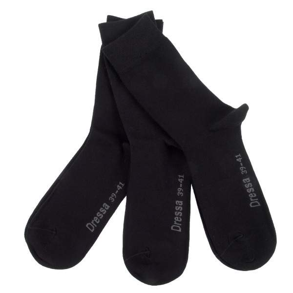 Dressa Elastico egyszínű pamut zokni - 3 pár