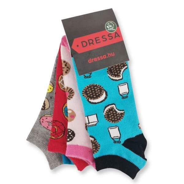 Dressa Fitness Sweety mintás női titokzokni csomag - 4 pár