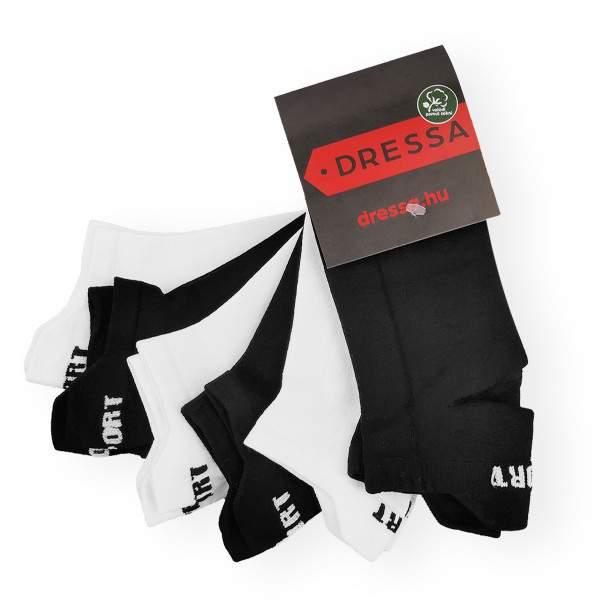 Dressa Fitness mikroszálas női titokzokni csomag - fekete-fehér - 6 pár
