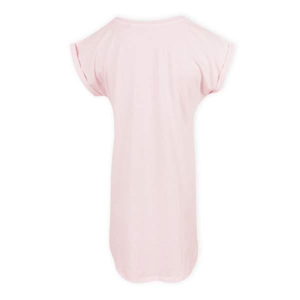 Dressa flamingó mintás pamut pólóruha - rózsaszín