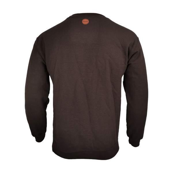 Dressa Forest környakú pamut pulóver - sötétbarna