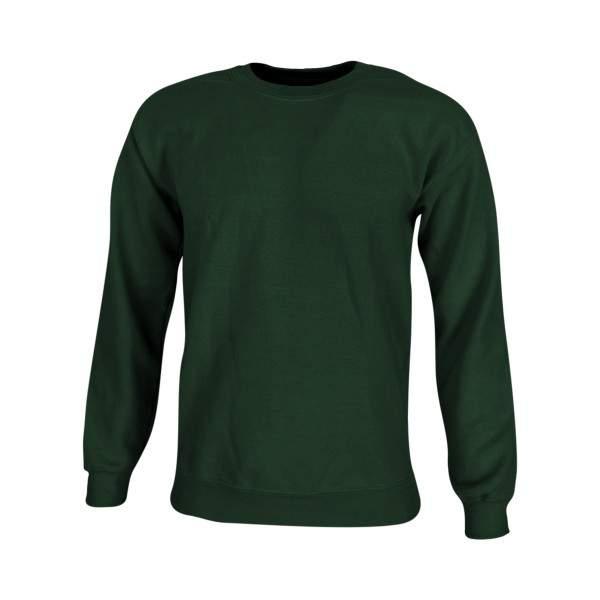 Dressa Forest környakú pamut pulóver - sötétzöld