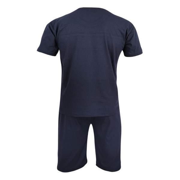 Dressa Home Champion rövid ujjú rövidnadrágos pamut pizsama - sötétkék