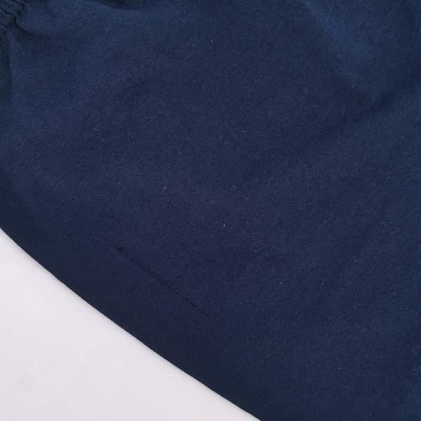 Dressa Home esztétikai hibás csíkos rövid ujjú v-nyakú rövidnadrágos férfi pamut pizsama - sötétkék