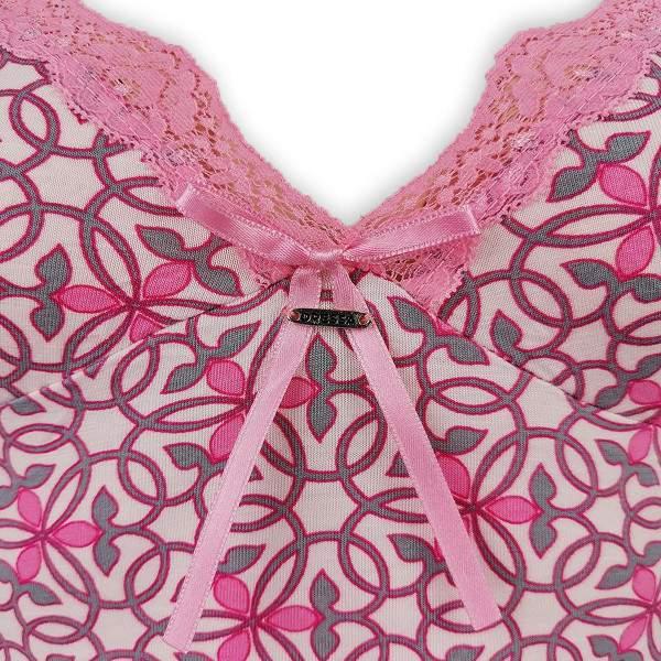 Dressa Home spagetti pántos csipkés virágmintás hálóing - rózsaszín