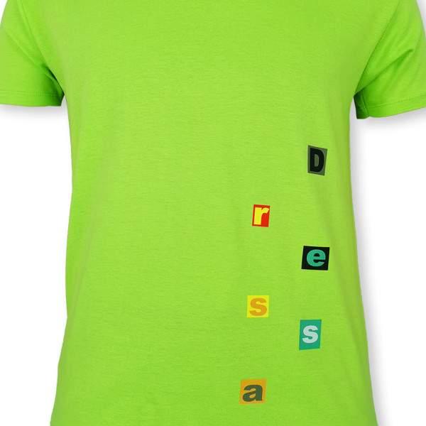 Dressa Home v-nyakú rövid ujjú rövidnadrágos biopamut férfi pizsama - citromzöld