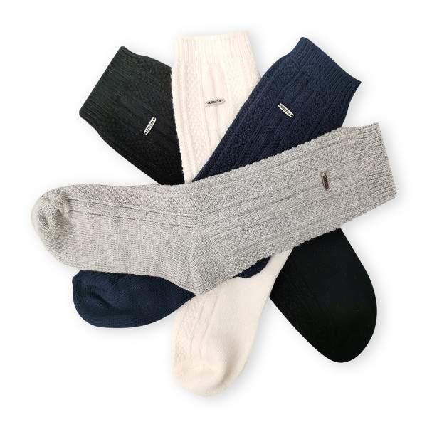 Dressa csavart mintás női kötött zokni - 4 pár
