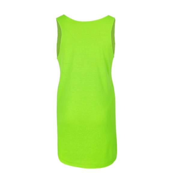Dressa Lines mintás női strandruha - neonzöld