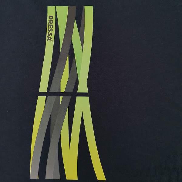 Dressa Lines mintás pamut pólóruha - sötétkék