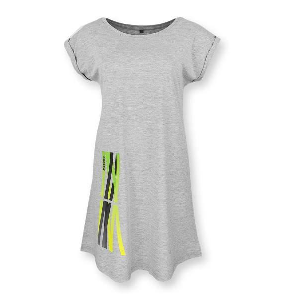 Dressa Lines mintás pamut pólóruha - melírszürke
