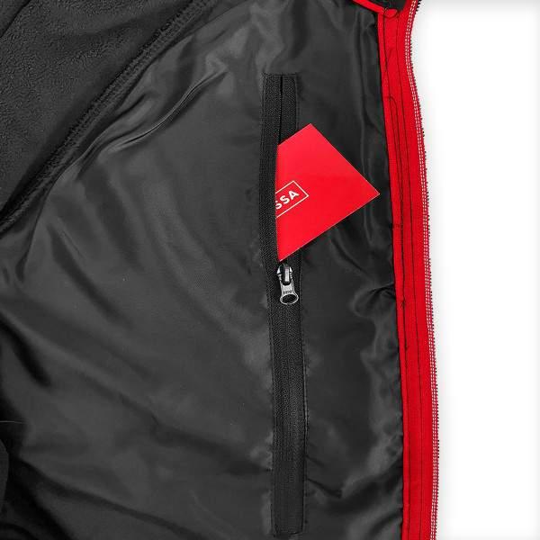 Dressa nagyméretű Softshell steppelt vékony vízálló férfi dzseki - fekete-piros