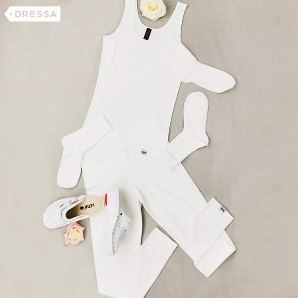 Dressa Teen Jersey pamut leggings lányoknak - fehér