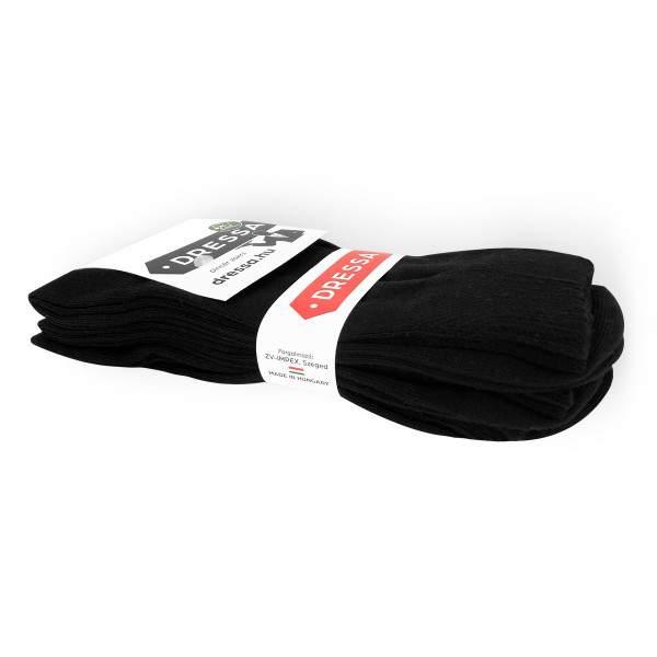 Dressa pamut gumi nélküli pincér zokni - fekete - 39-41 - 3 pár