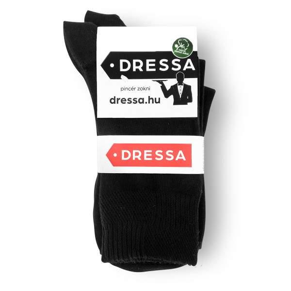 Dressa pamut gumi nélküli pincér zokni - fekete - 42-44 - 3 pár