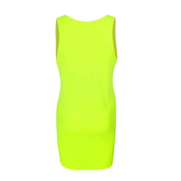 Dressa Party mintás női strandruha - neonsárga