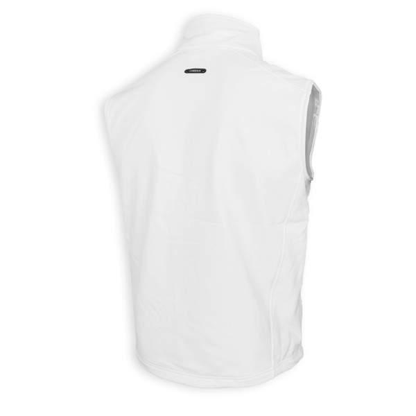 Dressa Softshell vízálló férfi mellény polár béléssel - fehér