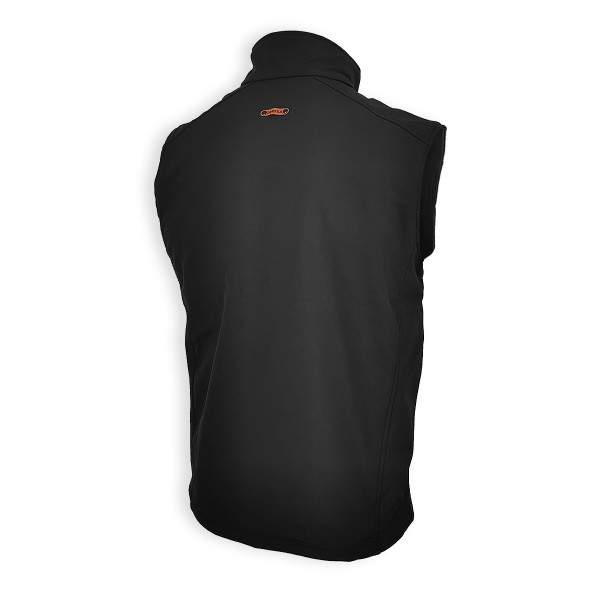 Dressa Softshell vízálló férfi mellény polár béléssel - fekete