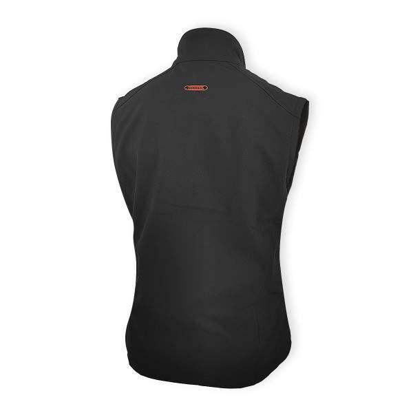 Dressa Softshell vízálló női mellény polár béléssel - fekete