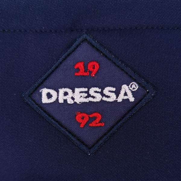 Dressa Sport férfi fitness cipzáros kapucnis nagyméretű felső - sötétkék