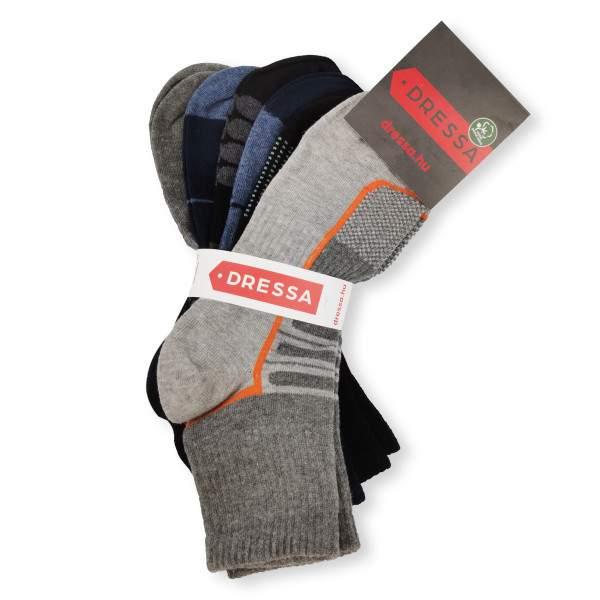Dressa Sport mintás pamut sportzokni csomag - 6 pár