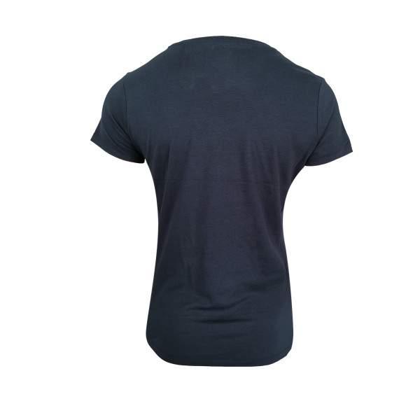 Dressa Supima női V nyakú pamut póló - sötétkék