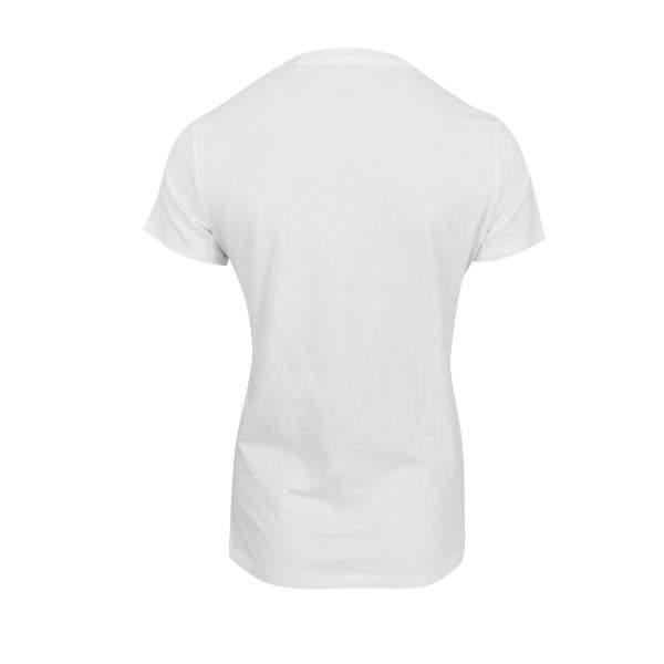Dressa Supima női V nyakú pamut póló - fehér