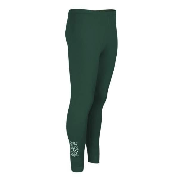 Dressa Teen Jersey pamut leggings lányoknak - sötétzöld